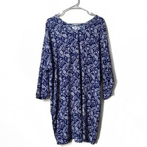 Old Navy Blue and White Floral Dress